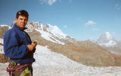 [Picture of Michael in front of the Matterhorn]